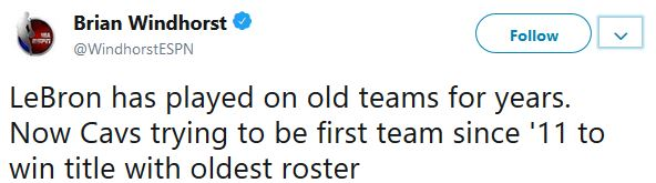 The oldest team in the NBA?