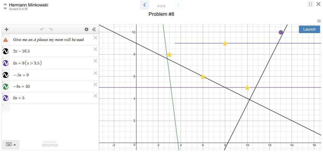Desmos Assessment 11