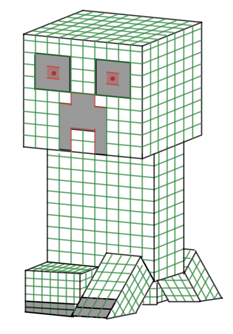 Minecraft Creeper by Emma B resized